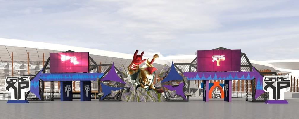 Imagem mostra como será a Arena da Game XP do Rock in Rio (Foto: Divulgação)