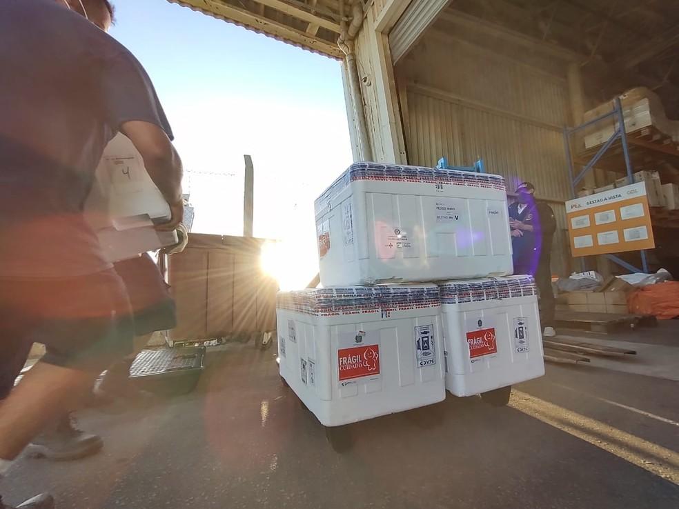 RN distribui 60 mil doses de AstraZeneca a municípios — Foto: Paulo Nascimento/Divulgação