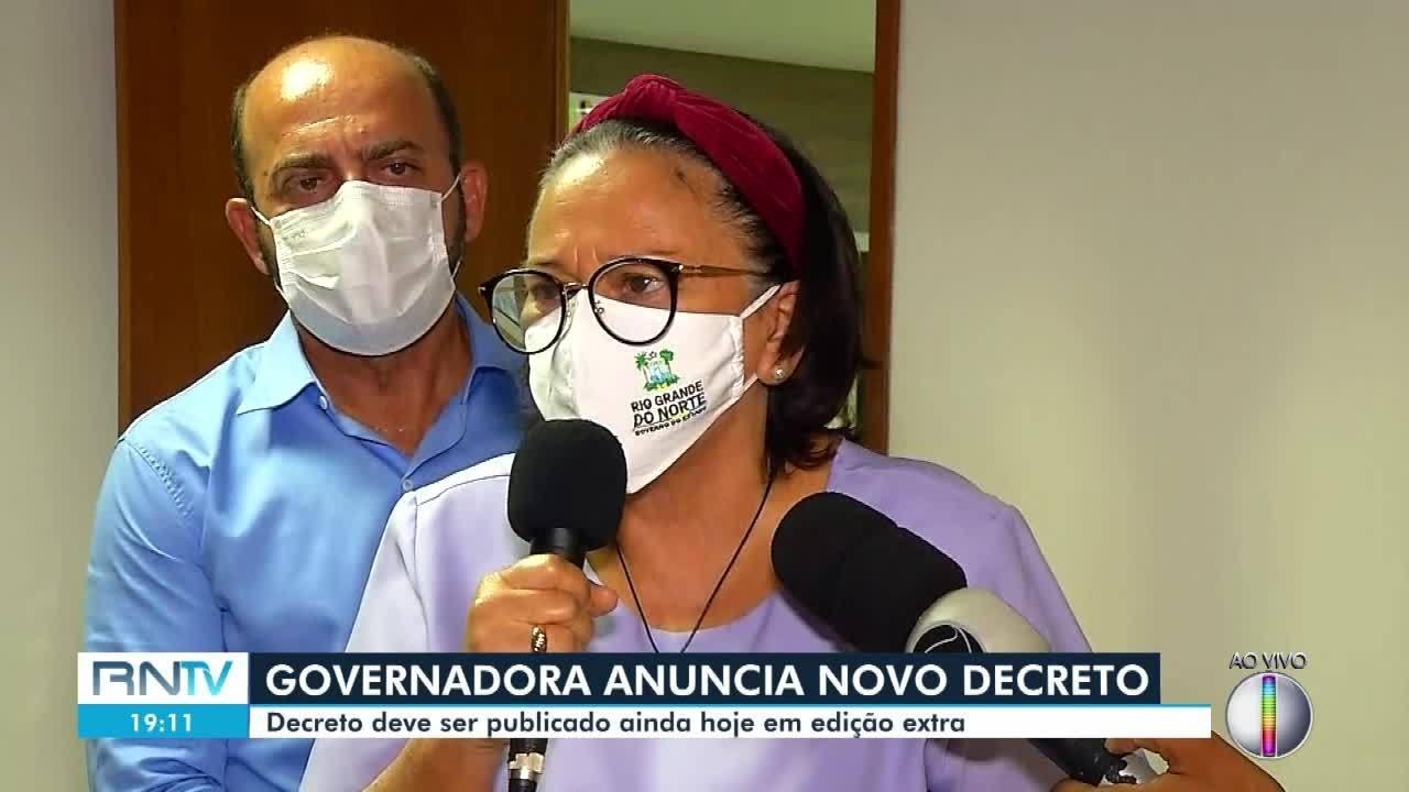 Governadora anuncia toque de recolher entre medidas do novo decreto