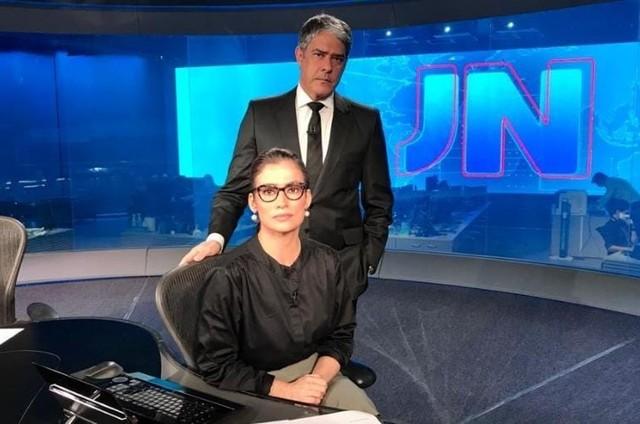 William Bonner e Renata Renata Vasconcellos no 'Jornal Nacional' (Foto: Globo)