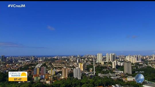 Veja a previsão do tempo para Salvador e outras cidades baianas nesta segunda-feira