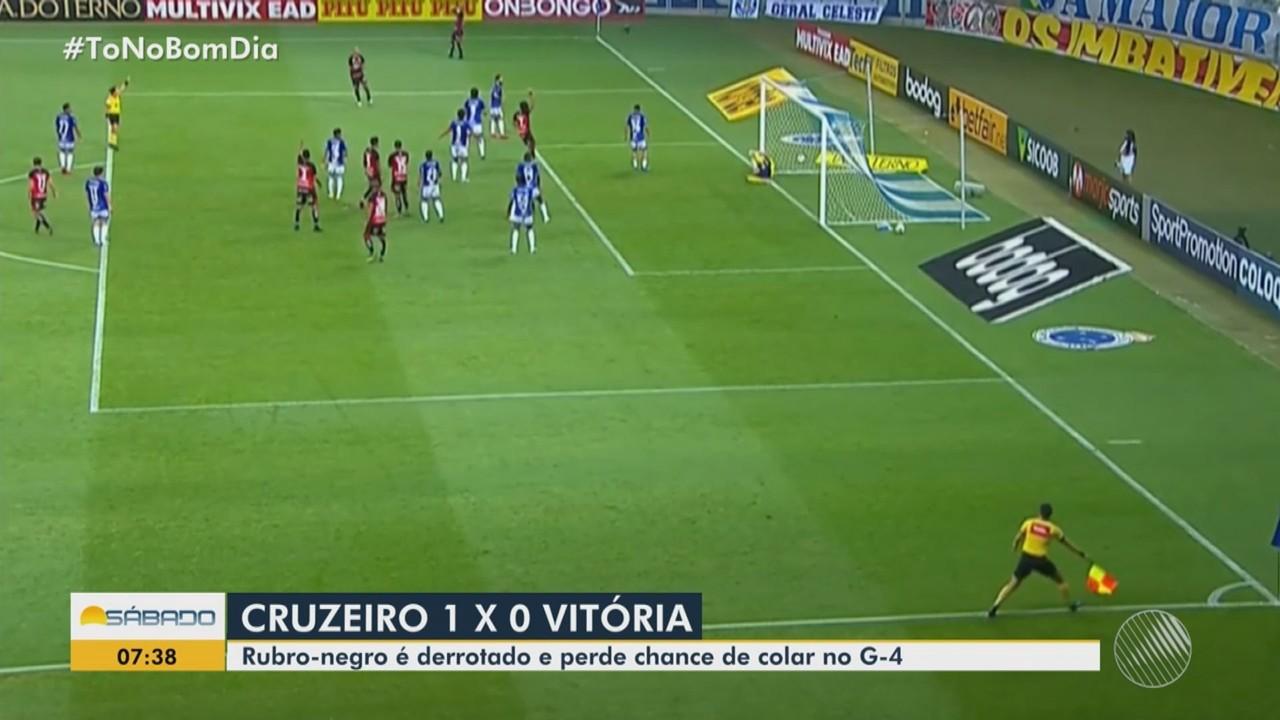 Futebol: Vitória perde para o Cruzeiro e não consegue se aproximar do G-4
