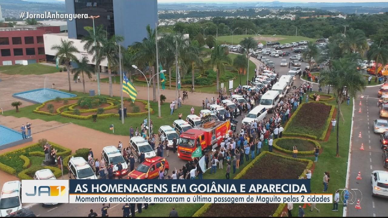 Moradores de Goiânia e Aparecida de Goiânia se despedem de Maguito Vilela