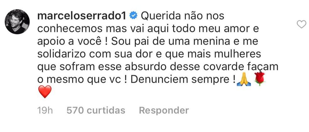 Marcelo Serrado disse que é pai e se solidarizou com Melissa — Foto: Reprodução/Redes Sociais