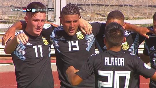 Argentina empata com o Paraguai pelo Sul-Americano Sub-20