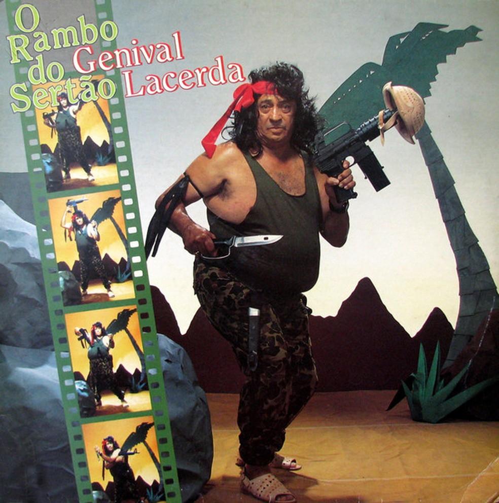 Capa do álbum 'O Rambo do sertão', de Genival Lacerda — Foto: Reprodução