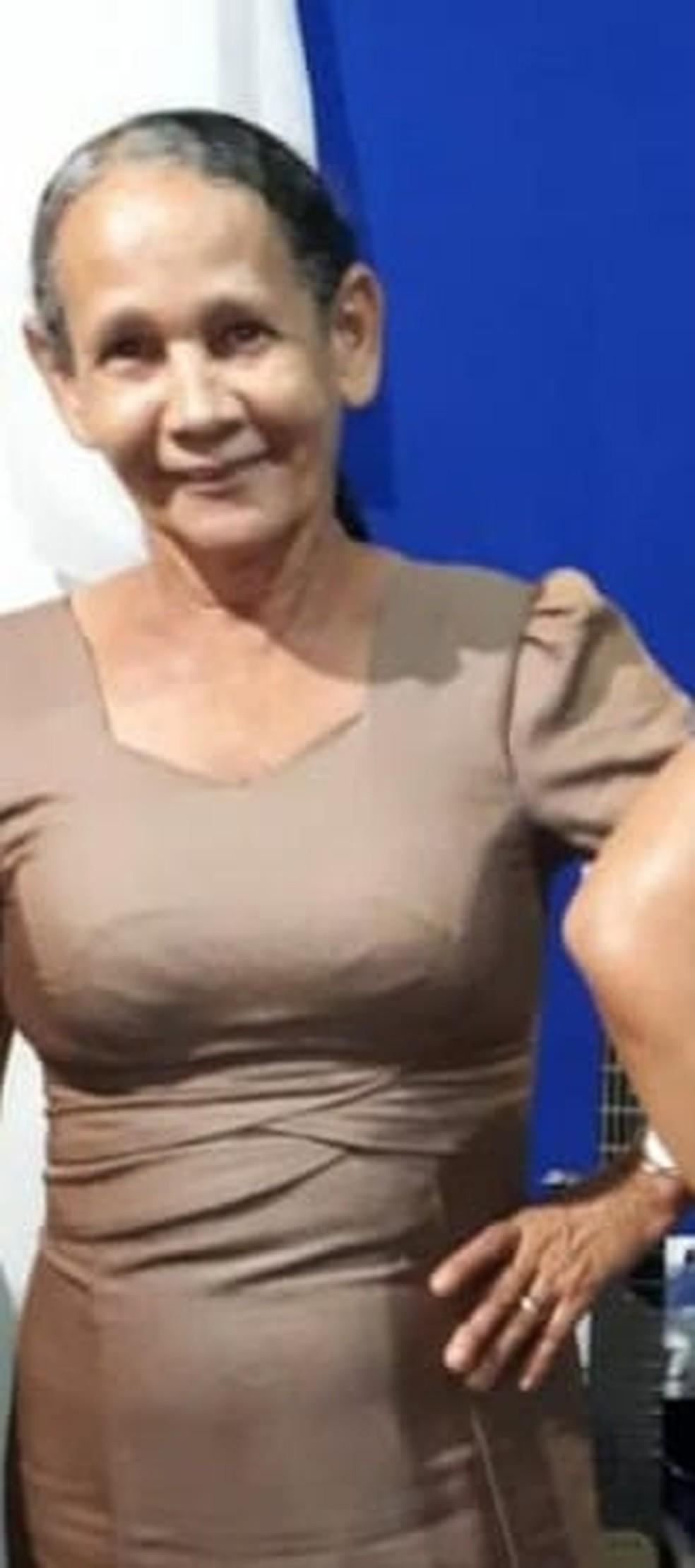 Josefa Antonia da Silva, 62, estava de carona em carro que se acidentou na BR-364 em MT — Foto: Reprodução