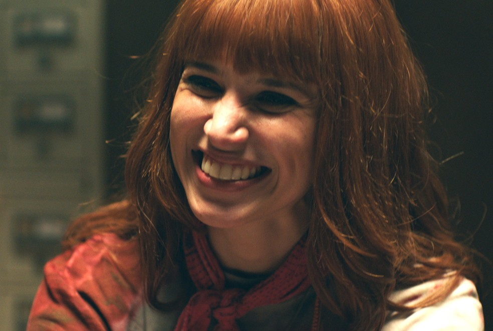 Mel Lisboa como Rita Lee na minissérie 'Elis – Viver é melhor que sonhar' — Foto: Divulgação / TV Globo