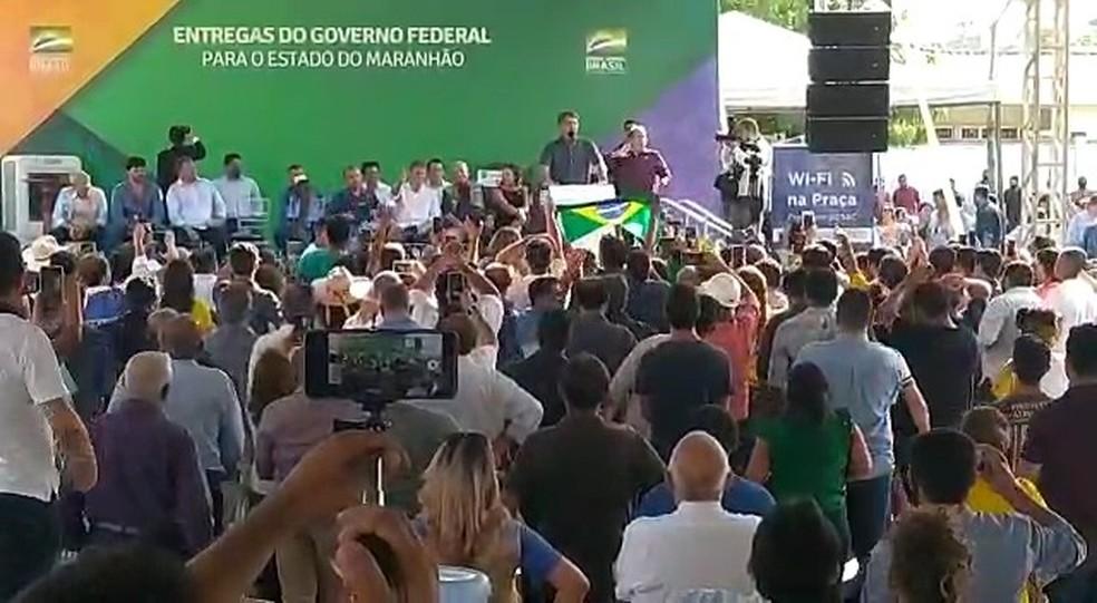 Bolsonaro participa de inaguração do panelodrómo de Imperatriz (MA) — Foto: Divulgação/Redes sociais