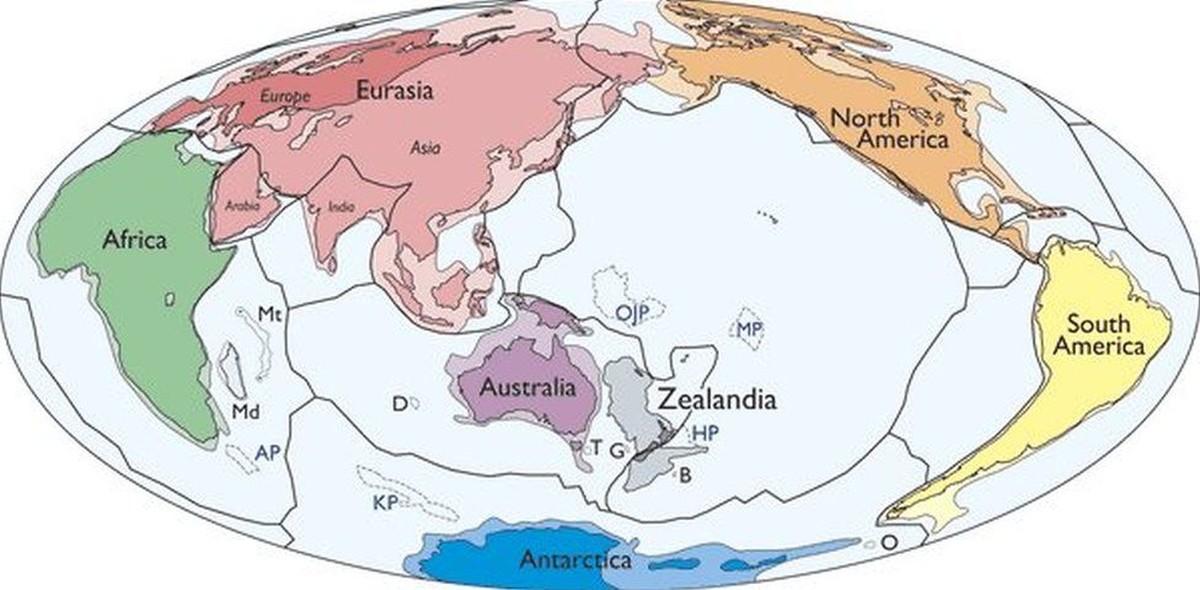 Cientistas identificam novo continente no Hemisfério Sul: a Zelândia