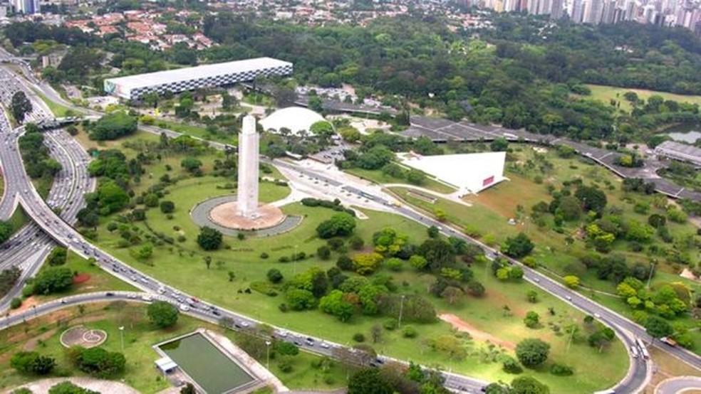 O obelisco no Parque Ibirapuera  — Foto: Prefeitura de SP/Divulgação
