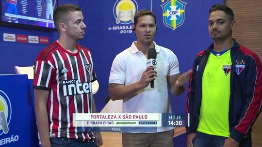 São Paulo e Fortaleza decidem o título do e-Brasileirão