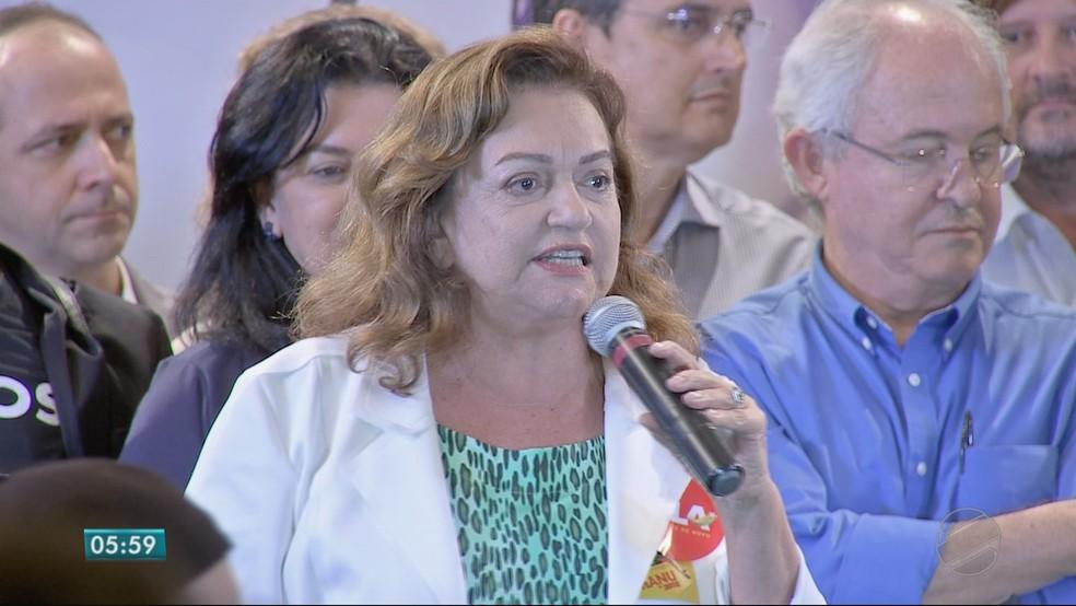 Maria Lúcia Cavalli Neder (PC do B), candidata ao Senado (Foto: TVCA/ Reprodução)