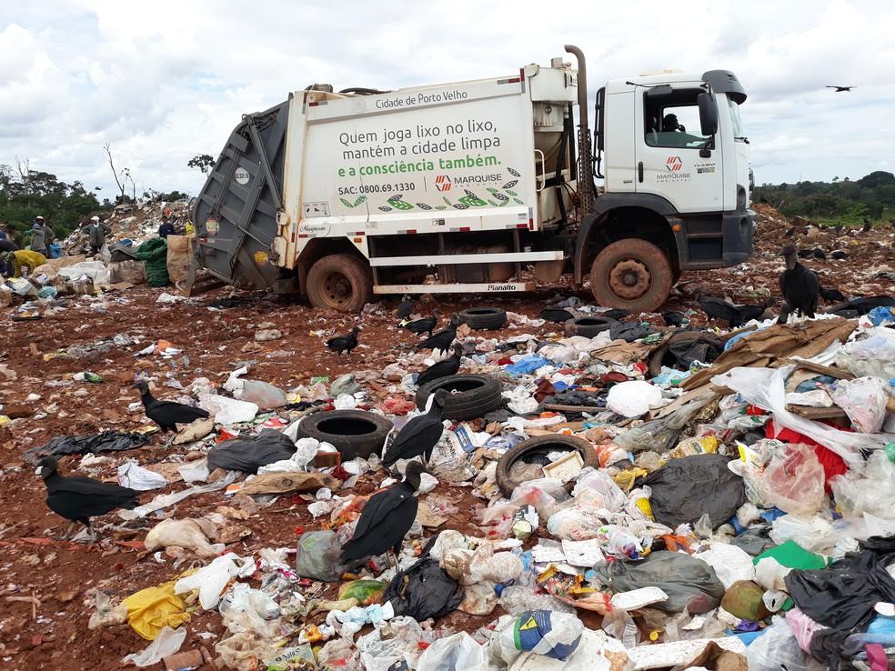 Lixão de Porto Velho foi interditado por denúncia de trabalho infantil — Foto: Superintendência Regional do Trabalho em Rondônia/Divulgação