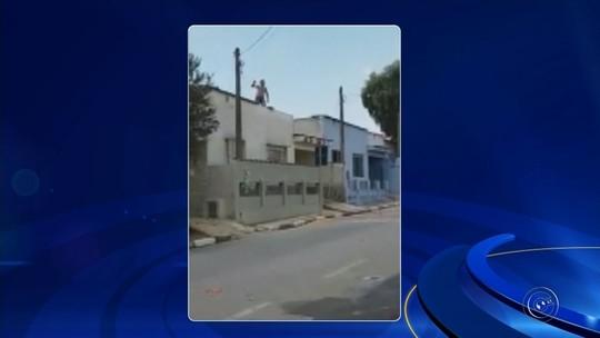 Ladrão atira telhas em guardas após roubar drone e caneta com mira a laser de loja; vídeo