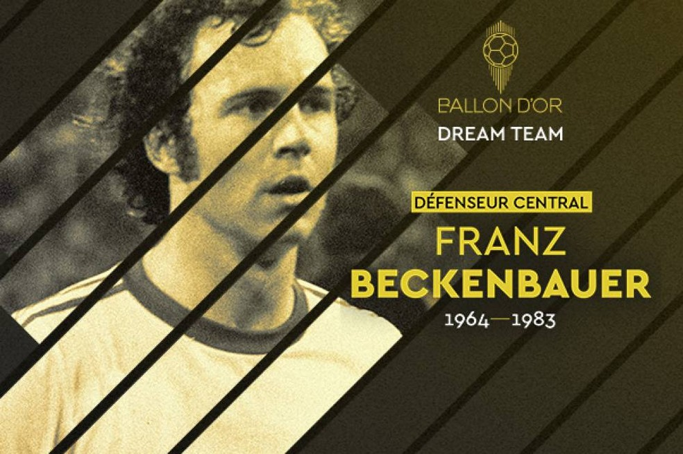 Franz Beckenbauer foi eleito para o Dream Team da Bola de Ouro — Foto: France Football