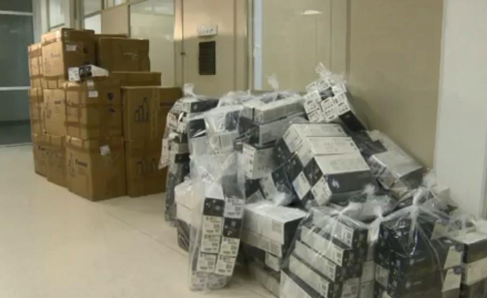 Material é avaliado em meio milhão de reais. — Foto: Reprodução/RJTV2