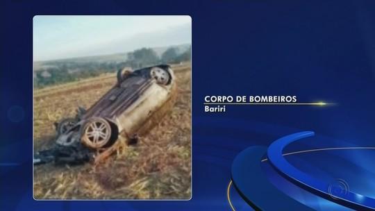 Motorista fica ferido em capotamento entre Bariri e Boraceia