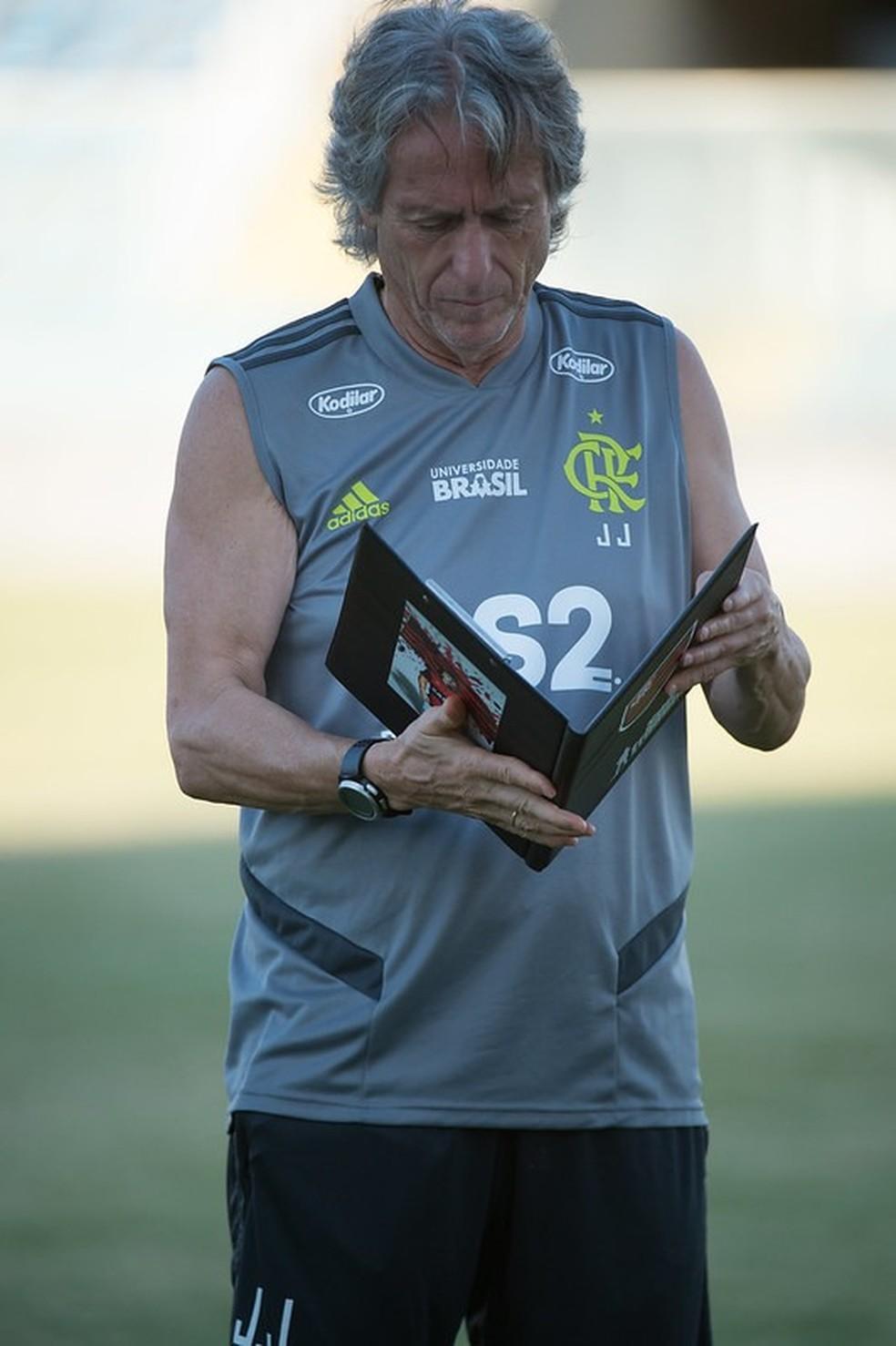 Jorge Jesus Flamengo — Foto: Alexandre Vidal / Flamengo