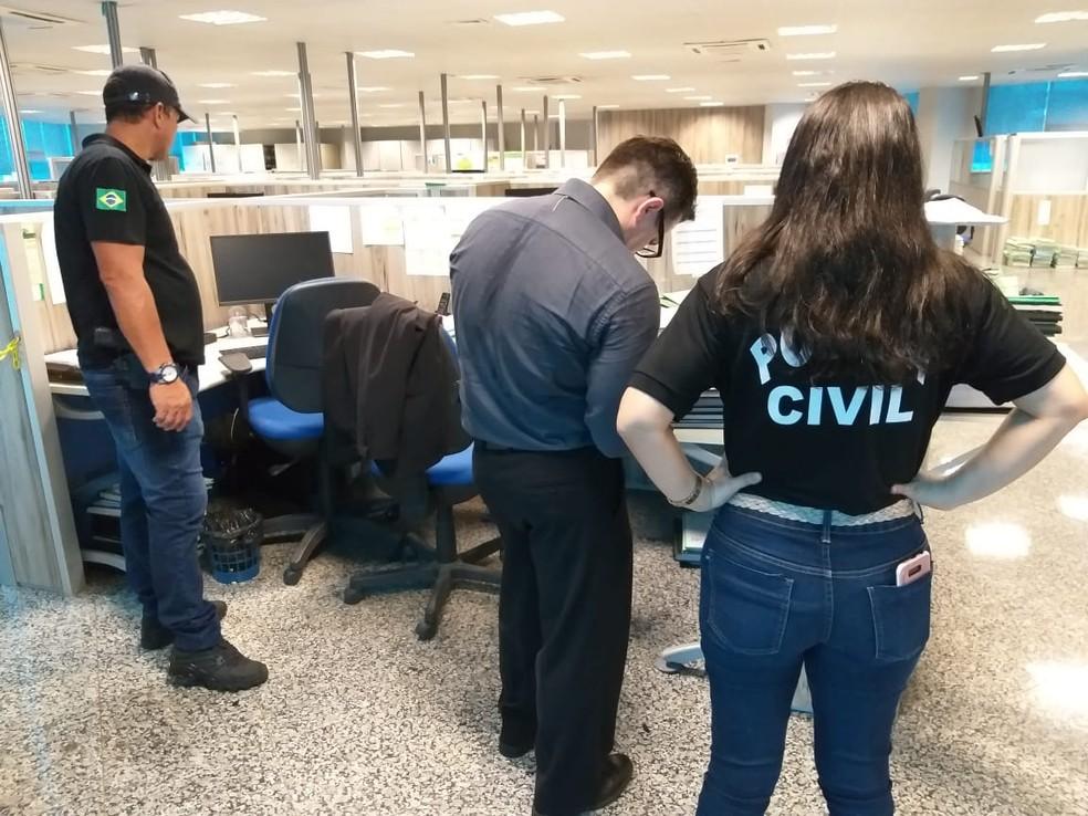 Primeira fase da Operação Pau Oco foi deflagada pela Polícia Civil no dia 5 de novembro de 2018. — Foto: Polícia Civil/Divulgação