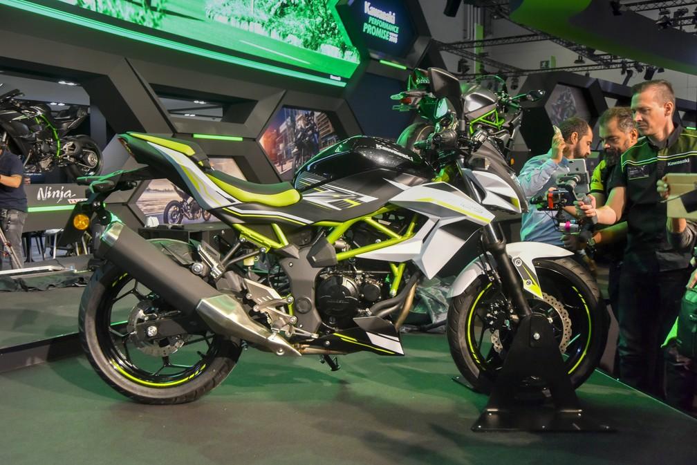 Kawasaki Z125 no Salão de Colônia — Foto: Intermot/Divulgação