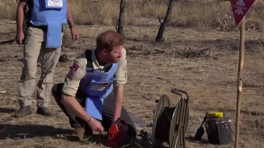 Príncipe Harry refaz o caminho de Lady Di em Angola