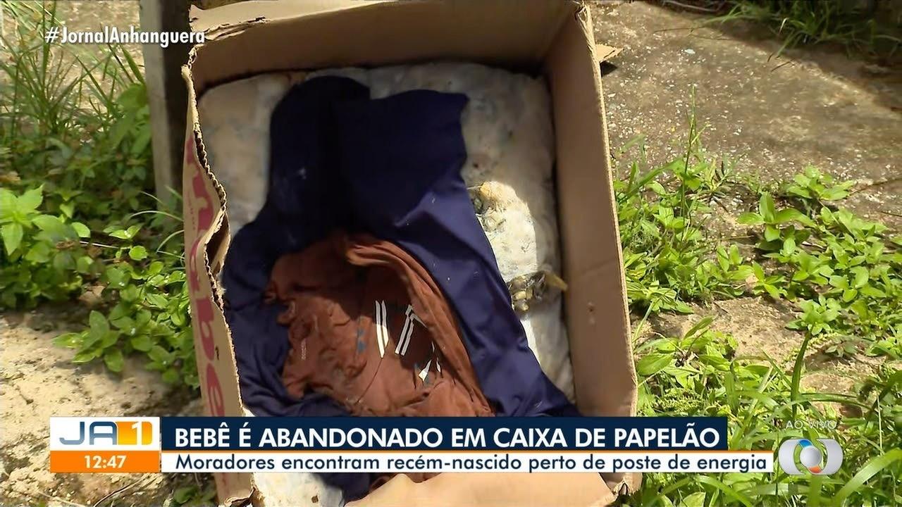 Moradora conta como encontrou recém-nascido abandonado em caixa de papelão, em Goiânia