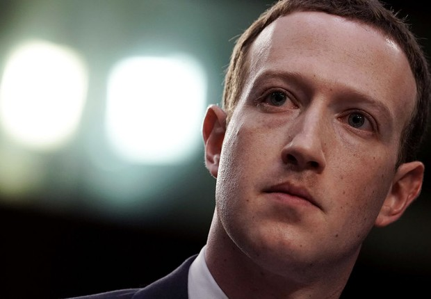 Mark Zuckerberg, CEO do Facebook, no Senado dos EUA (Foto: Alex Wong/Getty Images)