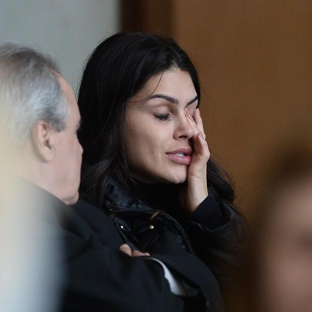Natália Guimarães, esposa de Leandro  (Foto: Francisco Cepeda/AgNews)