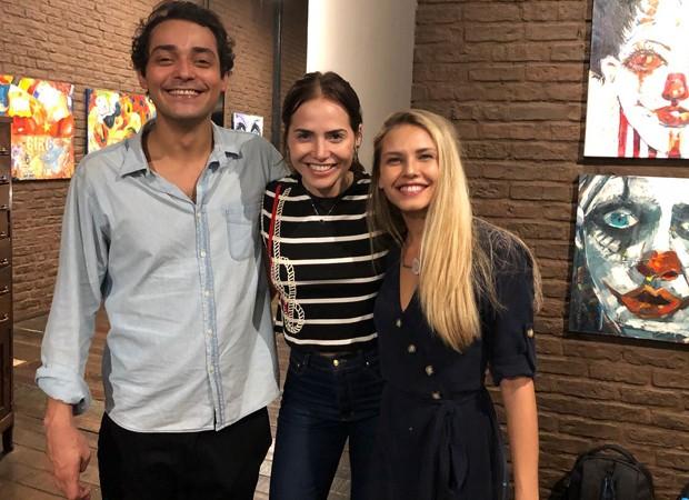 Eduardo Sterblitch, Letícia Colin e Louise D'Tuani (Foto: Divulgação)