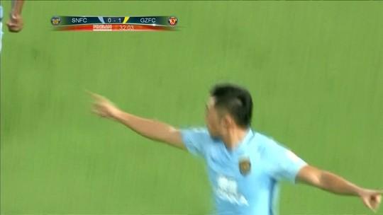 Alan e Goulart marcam, mas Guangzhou sofre empate e vê diferença na ponta cair