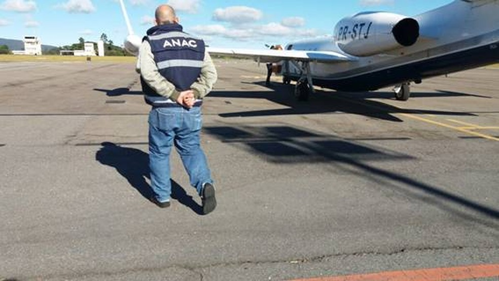 Interdição de aeronave com Marília Mendonça, em Jundiaí, visa coibir prática de táxi-aéreo clandestino (Foto: Anac/Divulgação)