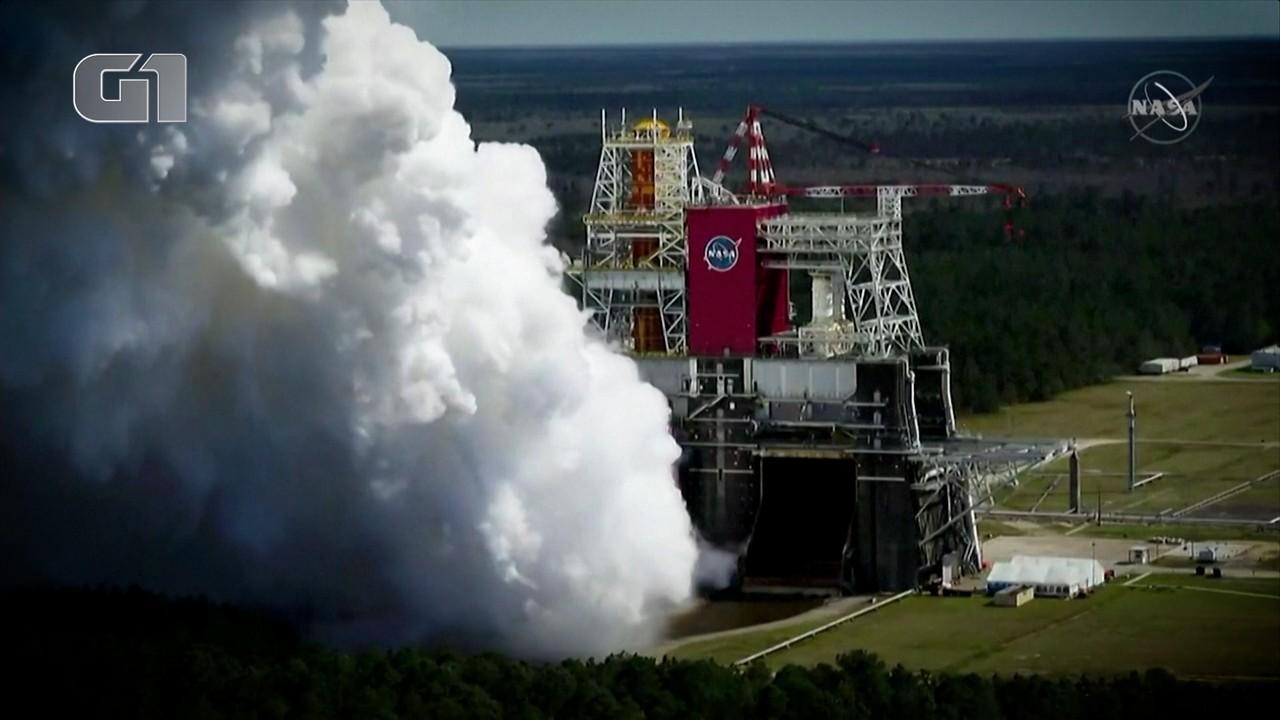 Nasa completa teste de foguete que pode levar os humanos de volta à Lua