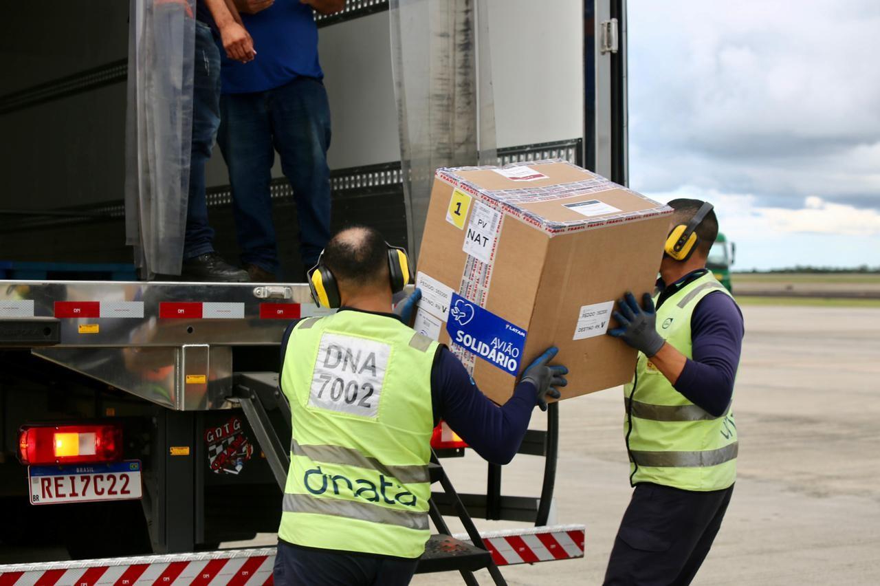 Mais 10,5 mil doses de Pfizer desembarcam no Rio Grande do Norte