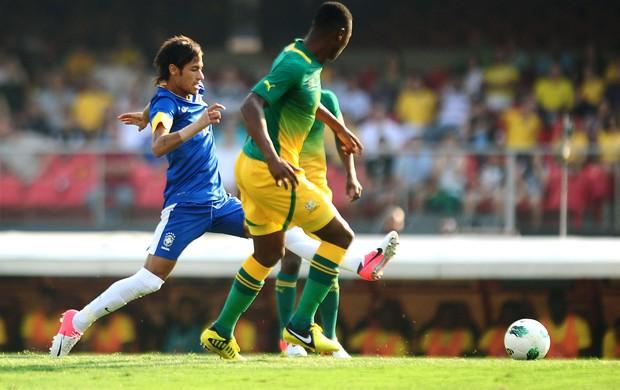 Neymar Brasil x África do Sul (Foto: Marcos Ribolli / Globoesporte.com)
