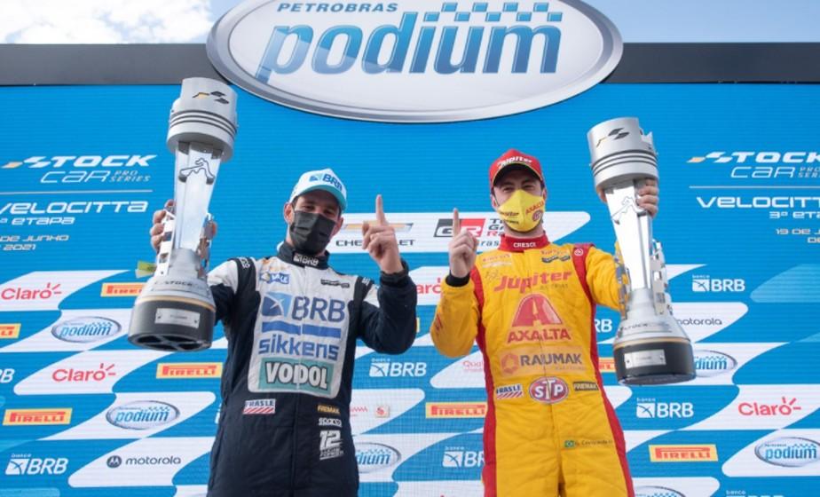 Lucas Foresti supera Barrichello e vence a segunda corrida da Stock Car em  Velocitta | stock car | ge
