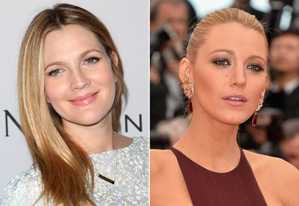 O rosto mais redondinho de Drew Barrymore e o oval de Blake Lively (Foto: Getty Images)