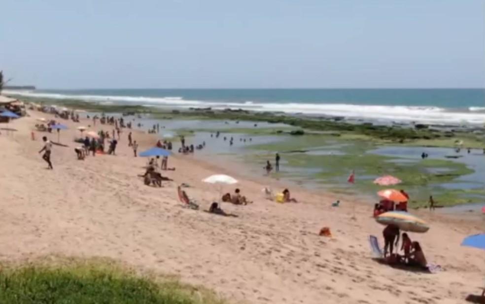 Covid-19: Praias de Camaçari são interditadas a partir de domingo — Foto: Reprodução/TV Bahia