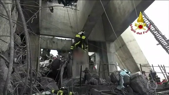 Sobe para 39 o número de mortos em desabamento de ponte na Itália