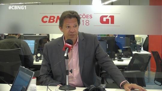 Haddad diz que não dará indulto a Lula se for eleito presidente