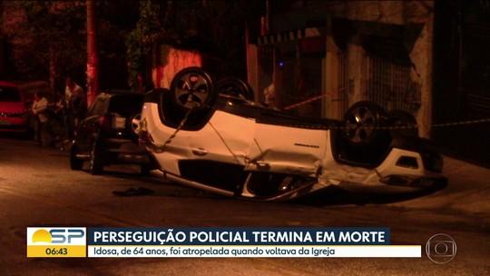 Idosa morre após ser atropelada durante perseguição policial em Santo André