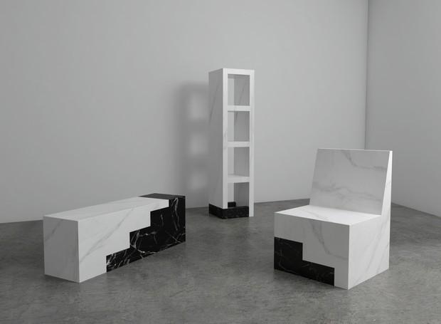 Linha Rise, de Gustavo Martini para o coletivo Marble Series, exposto no Isola Design District (Foto: Divulgação)