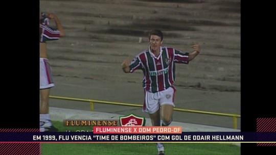 """Vídeo: em 1999, Fluminense vencia """"time de bombeiros"""" com gol de Odair Hellmann"""