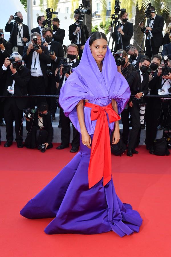 Tina Kunakey no Festival de Cannes 2021 (Foto: Getty Images)