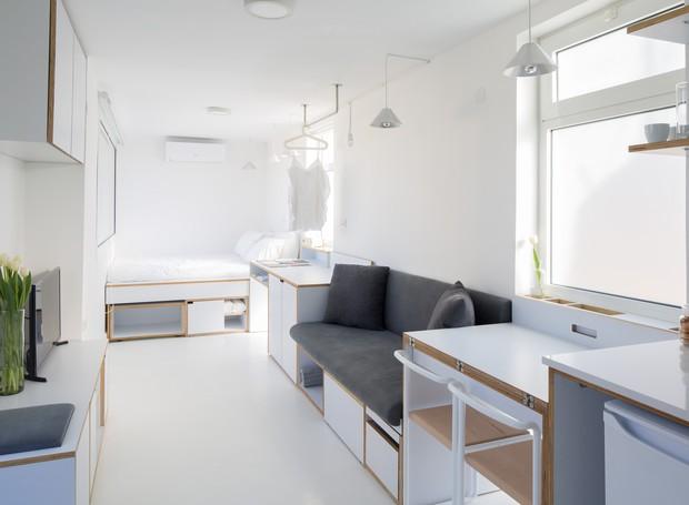 """Apartamento studio """"Caixa de sapato"""" (Foto: Reprodução/Dezeen)"""