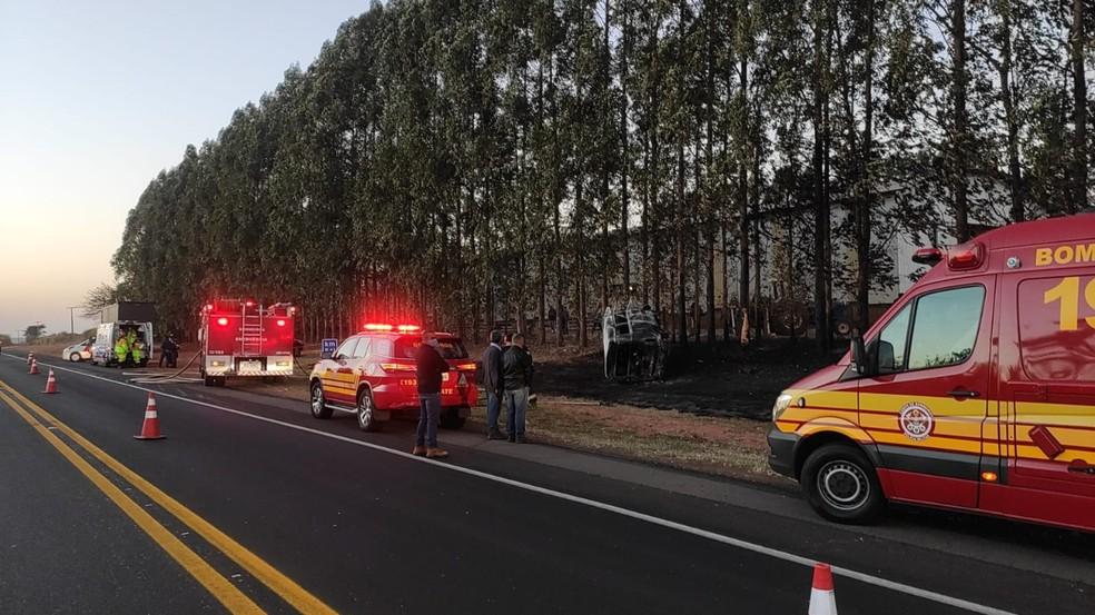 Acidente deixou vítimas fatais na Rodovia Prefeito Homero Severo Lins — Foto: Polícia Rodoviária