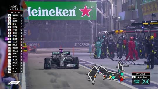 """Lewis Hamilton também reclama da  estratégia da Mercedes: """"Poderia ter vencido facilmente"""""""