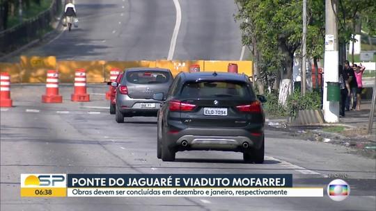 Obras na Ponte do Jaguaré e no Viaduto Mofarrej devem ser concluídas em dezembro e janeiro
