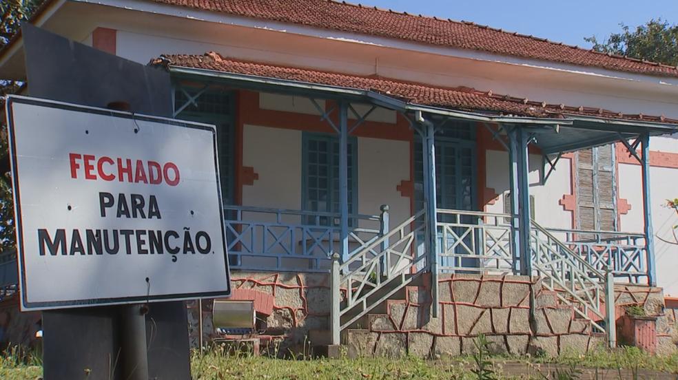 Museu Histório Pedagógico de Araçatuba está fechado para manutenção (Foto: Reprodução/TV TEM)