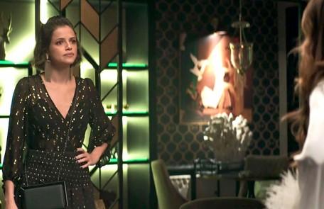 Na quarta (5), Josiane (Agatha Moreira) ficará preocupada quando souber que Amadeu pretende morar com sua mãe Reprodução